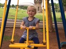 Playing in Parque das Nações Indigenas.